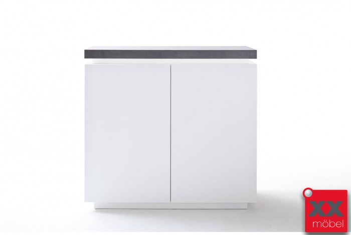 Massivholzmöbel sideboard modern  Highboard modern weiss | Atlanta | Absetzung Beton | T77