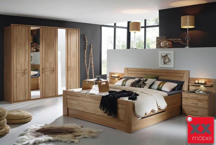 Schlafzimmer Komplett Rauch Sitara Wildeiche Teilmassiv W71