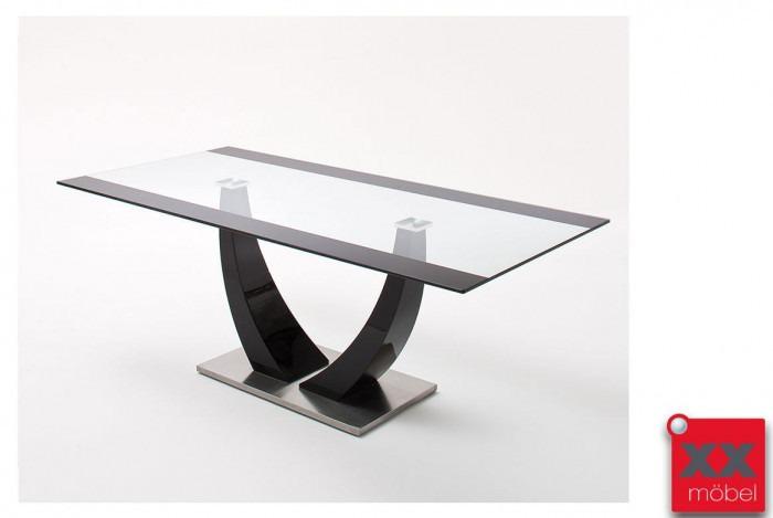 Glastisch modern | Tavolo | Klarglas schwarz | TAS1