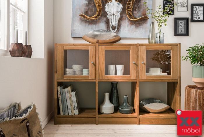 Sideboard Würfel | Cube | Wildeiche Massivholz | T05