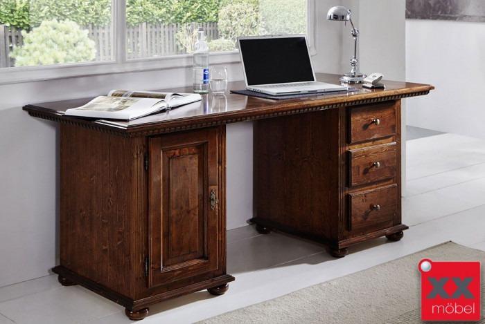 Schreibtisch | Valentina | Fichte Massivholz | T77-4G