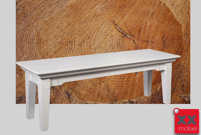 Sitzbank | Lena | Astfichte Massivholz weiß | T49