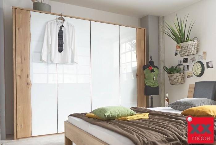 Kleiderschrank | Front 9 | Kernbuche - Wildeiche Massivholz | F09
