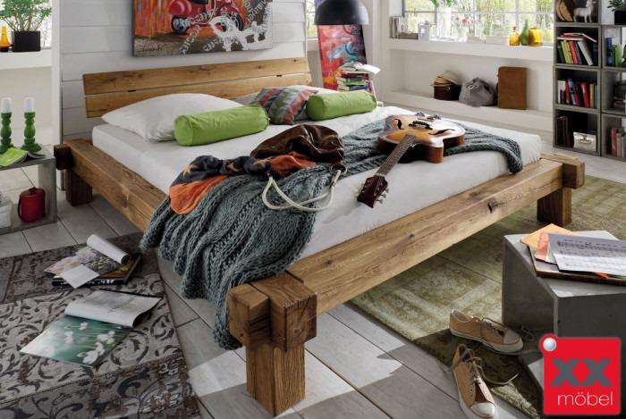 Bettgestell Balkenbett | TIP | Wildeiche Massivholz | TII