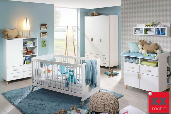 Babyzimmer | 6-tlg. | Mieke | komplett weiss | M02