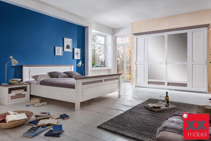Schlafzimmer | Lugano | Kiefer teilmassiv | S01