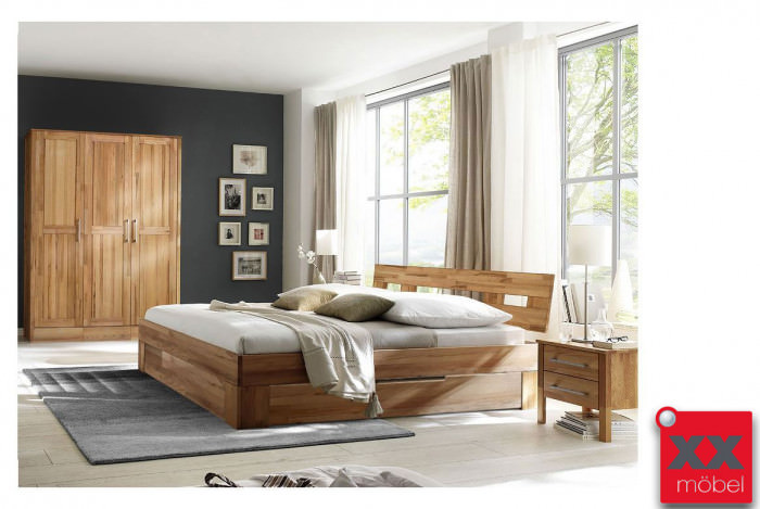 schlafzimmer massivholz modset rotkernbuche massiv k06. Black Bedroom Furniture Sets. Home Design Ideas