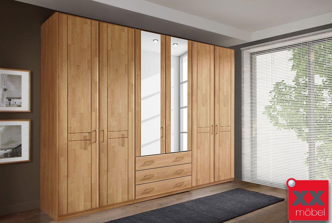 kleiderschrank teilmassiv sitara erle o wildeiche e83. Black Bedroom Furniture Sets. Home Design Ideas