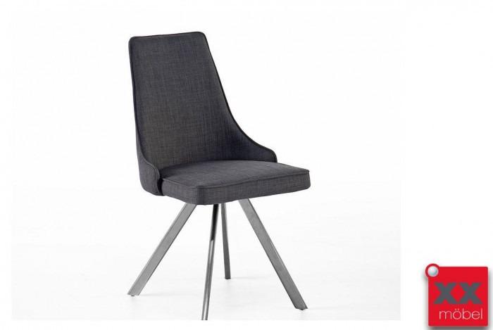 Esszimmerstühle | Elara | Feingewebe grau | EB3