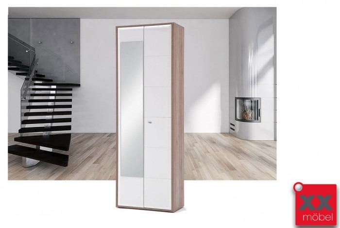 Garderobenschrank | Comino | weiß Hochglanz | T83