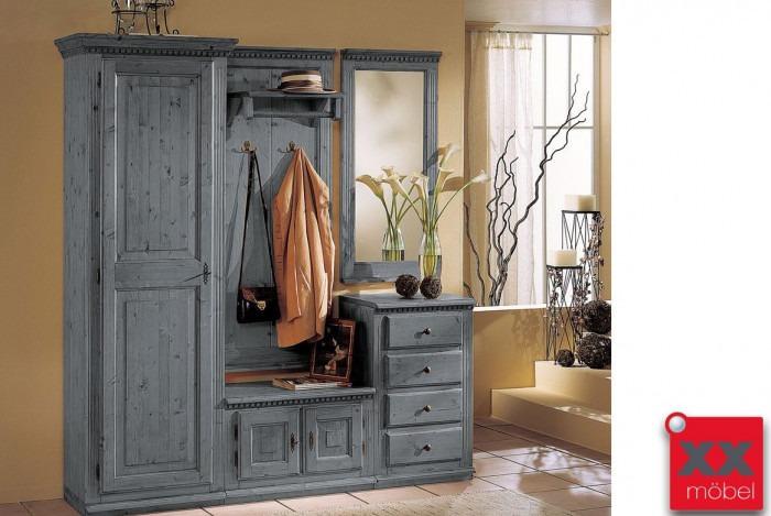 garderoben set landhausstil valentina fichte massivholz k03 2g. Black Bedroom Furniture Sets. Home Design Ideas
