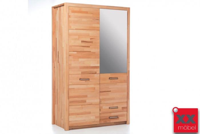 Kleiderschrank Massivholz | Fenja | Kernbuche massiv geölt | T84