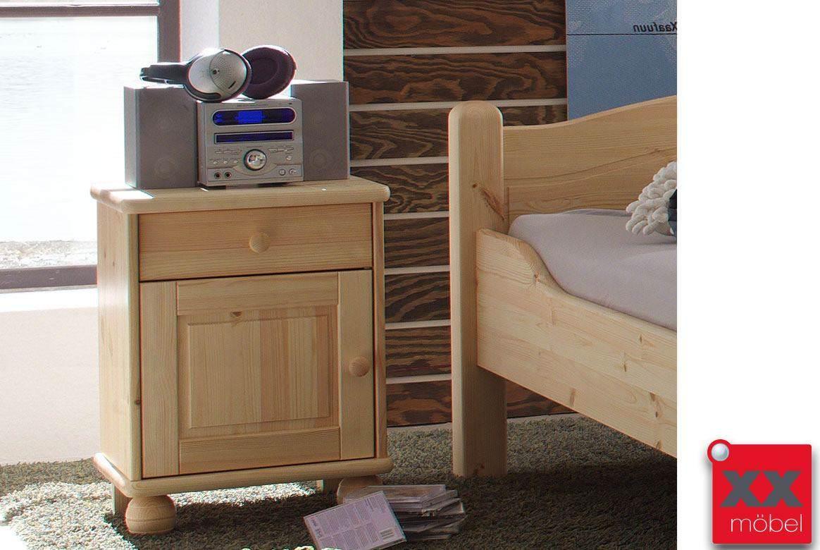 Nachtschrank für Bett | Jonas - Kalka | Kiefer Massivholz | S8-5