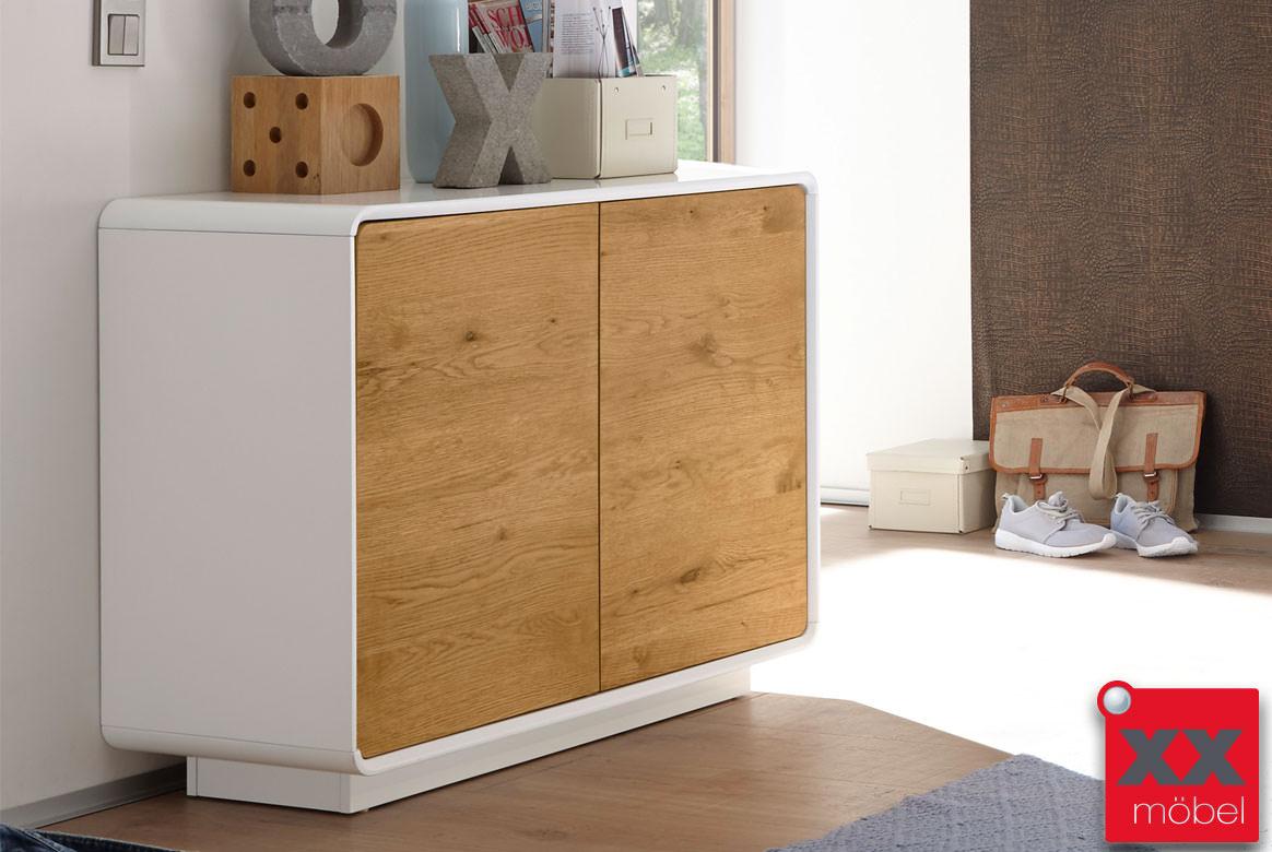 kommode modern weiss toulon absetzung asteiche t62. Black Bedroom Furniture Sets. Home Design Ideas
