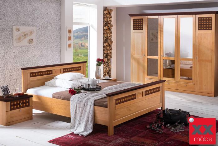 Schlafzimmer landhausstil roma pinie teilmassiv s02 - Schlafzimmer pinie ...