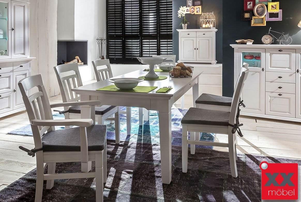 Tischgruppe | Lena | Astfichte Massivholz weiß | TG2