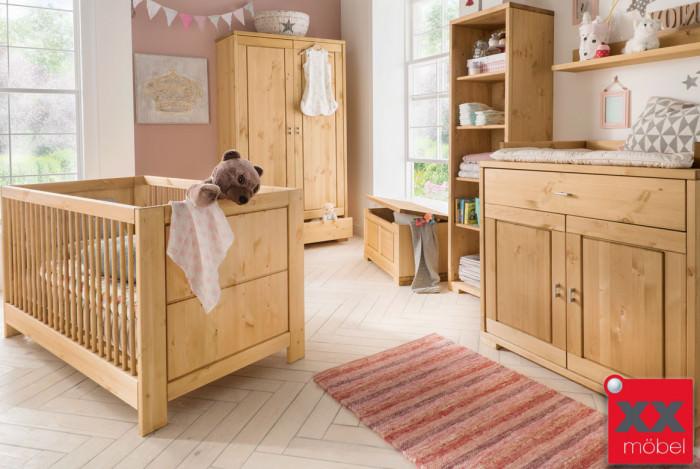 Babyzimmer Spar Set | 3-tlg. | Vita | Kiefer Massivholz | B03