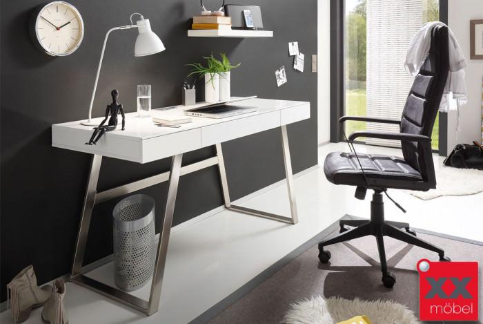 Schreibtisch | Aspen | weiß matt lackiert | T29
