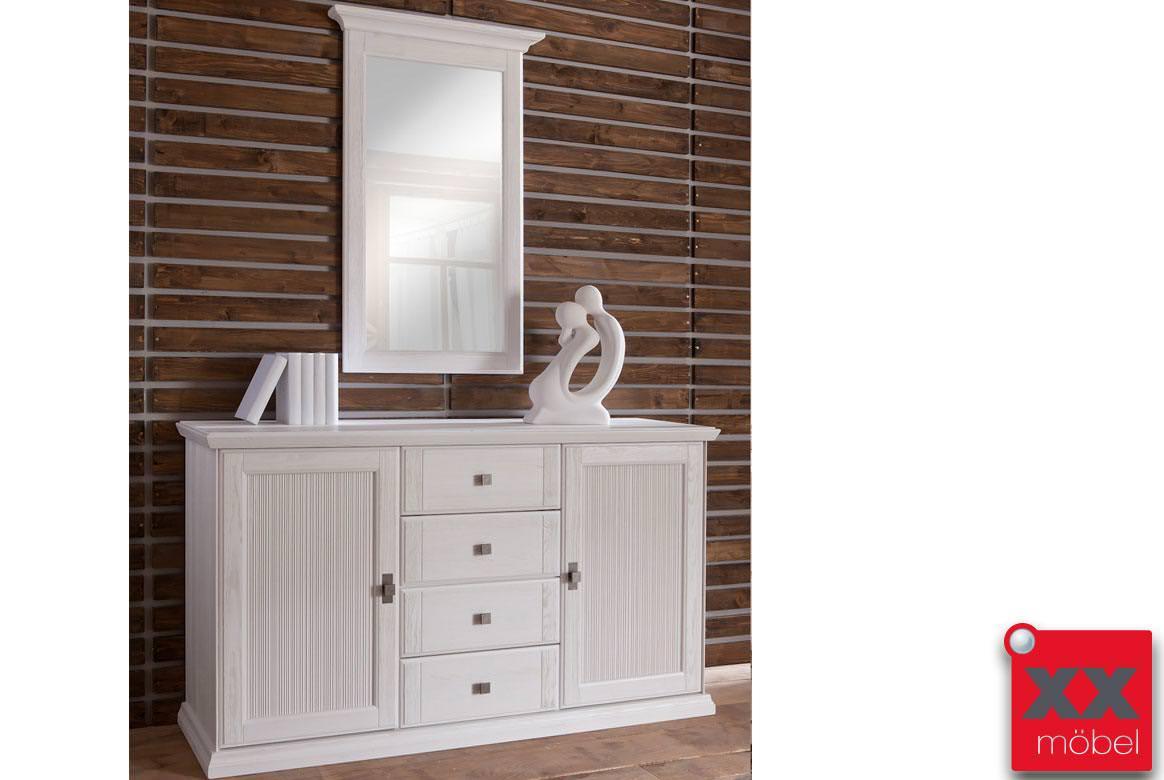 sideboard landhausstil set wei casa kiefer massiv t77s. Black Bedroom Furniture Sets. Home Design Ideas