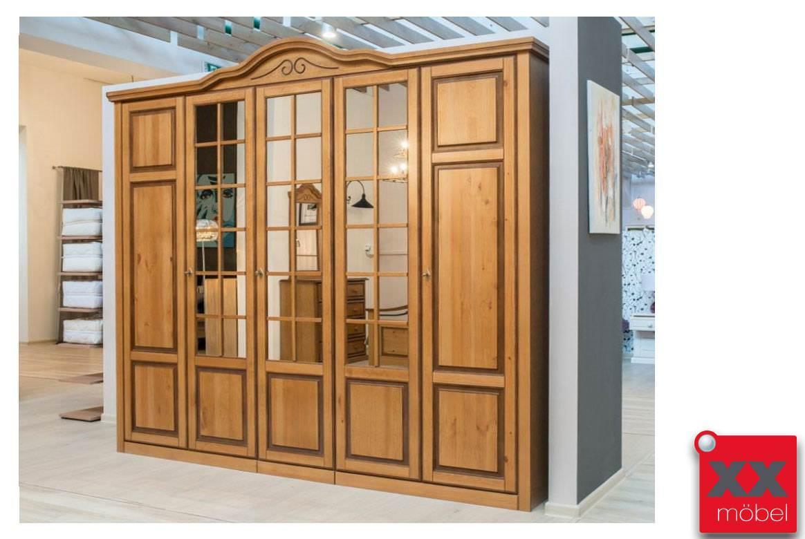 kleiderschrank landhausstil san remo kiefer teilmassiv d25. Black Bedroom Furniture Sets. Home Design Ideas