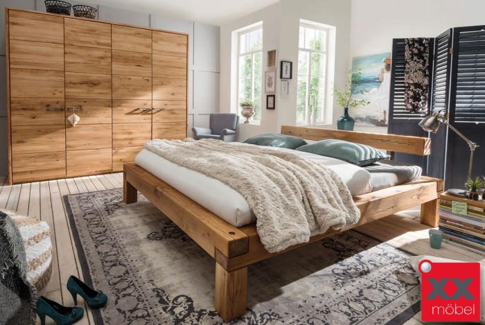 Schlafzimmer Massivholz | TPT | Balkenbett Wildeiche | S01