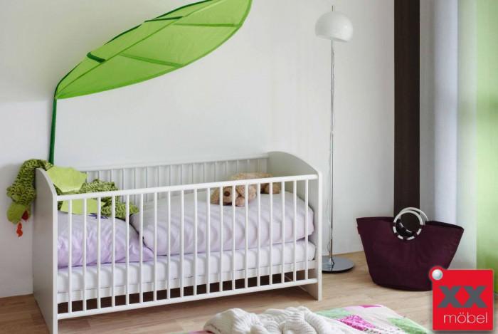 Babybett Gitterbett | Lilly | weiß höhenverstellbar | W4B