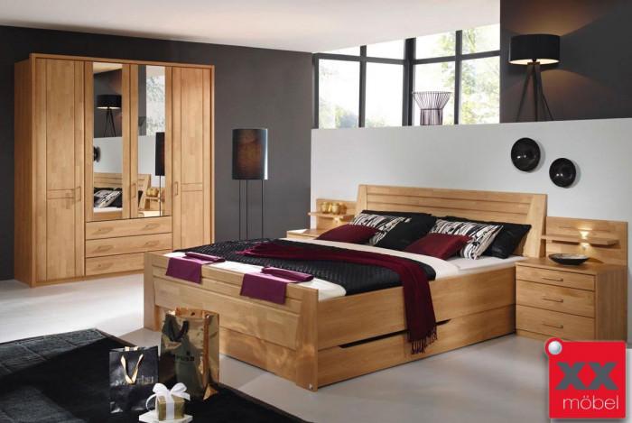 Schlafzimmer komplett Rauch | Sitara | Erle teilmassiv | S49