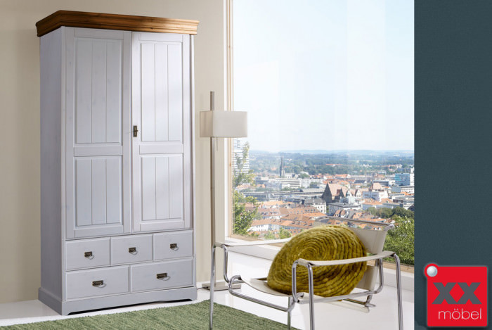 Wunderbar Kleiderschrank 2 Trg | Linea | Kiefer Massiv | T55