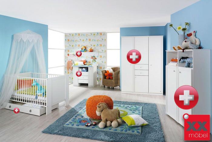 babyzimmer komplett weiss leni konfigurator komplett k01. Black Bedroom Furniture Sets. Home Design Ideas