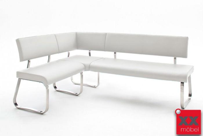 Eckbank modern | Arco | Echtleder weiss | EK2