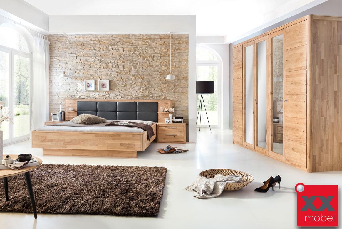 Schlafzimmer Massivholz | Micaja | Eiche bianco | S01