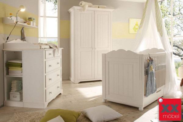 babyzimmer landhausstil weiss | cinderella | kiefer teilmassiv | b01