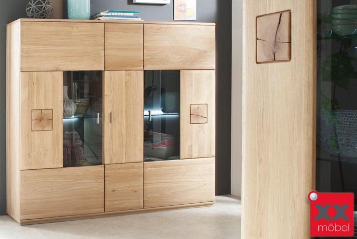 highboard eiche teilmassiv bologna eiche hirnholz t05. Black Bedroom Furniture Sets. Home Design Ideas