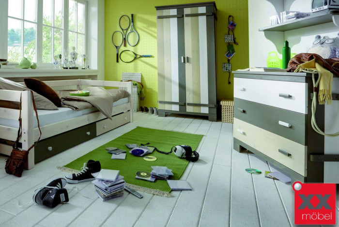 Kinderzimmer Massivholz Merlin Kiefer Massiv Multicolour M02