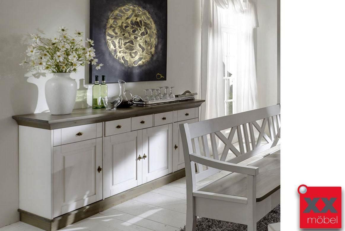 sideboard landhausstil linea massivholz kiefer t47. Black Bedroom Furniture Sets. Home Design Ideas
