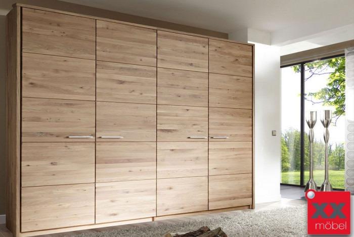 Kleiderschrank | Front 6 | Wildeiche Massivholz | T04