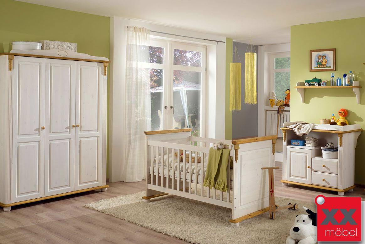 Babyzimmer landhausstil wei romantik kiefer massivholz r05 - Babyzimmer romantik ...