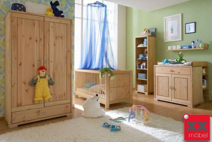 Babyzimmer | 6-tlg. | Guldborg - Vita | Kiefer Massivholz | B04