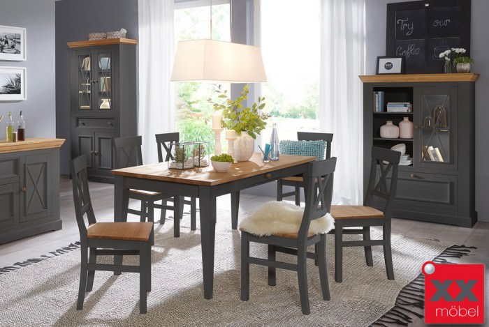 Tischgruppe   Windsor   Kiefer Massivholz   G03