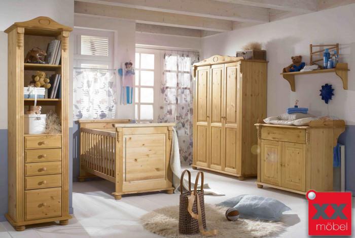 Babyzimmer | 4-tlg. | Roma | Kiefer Massivholz | R02