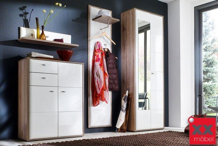 Garderoben Set | Comino | weiß Hochglanz | K01