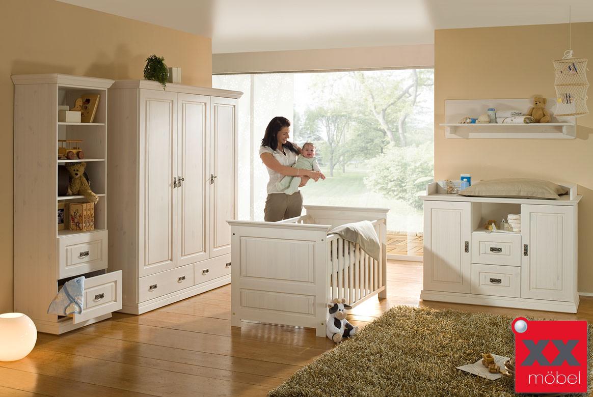 babyzimmer landhausstil odette kiefer massivholz b01. Black Bedroom Furniture Sets. Home Design Ideas