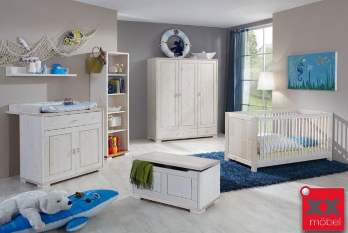 Babyzimmer | 6-tlg. | Vita | Kiefer Massivholz | B01