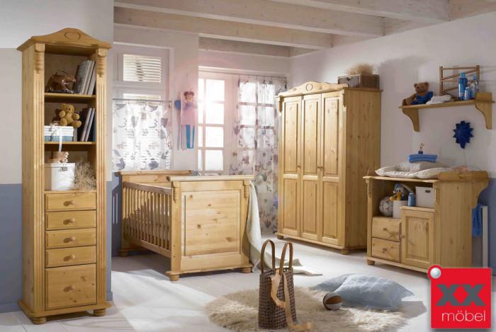 Babyzimmer | 4-tlg. | Roma | Kiefer Massivholz | R03