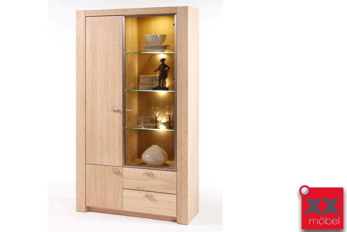 Vitrine modern madeira eiche bianco teilmassiv t12 - Vitrine modern ...