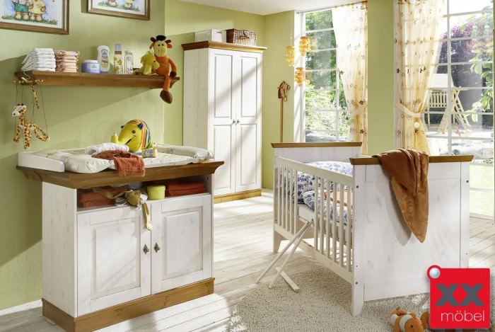babyzimmer landhausstil weiss linea massivholz kiefer k01. Black Bedroom Furniture Sets. Home Design Ideas