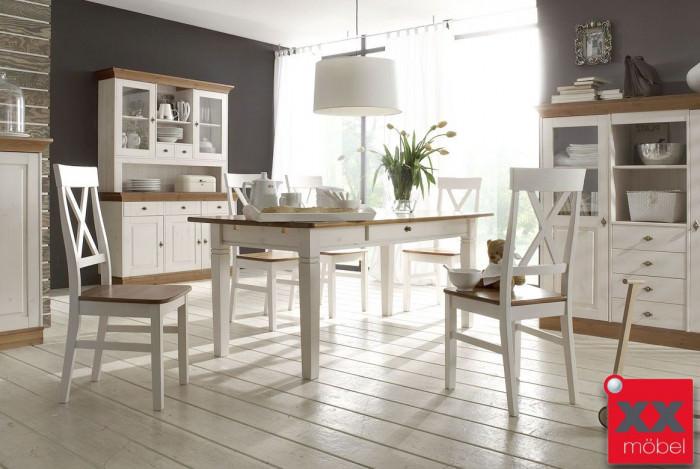 Tischgruppe Landhausstil | Linea | Kiefer Massivholz | K716
