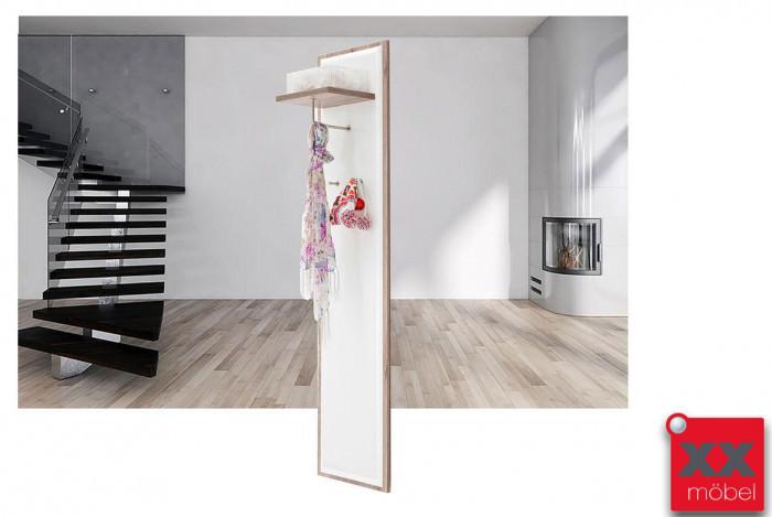 Garderobenpaneel | Comino | weiß Hochglanz | T90