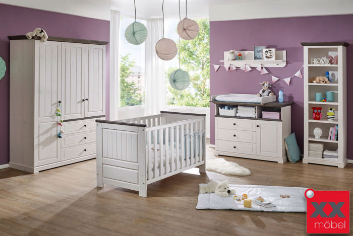 babyzimmer landhausstil komplett jolina kiefer. Black Bedroom Furniture Sets. Home Design Ideas