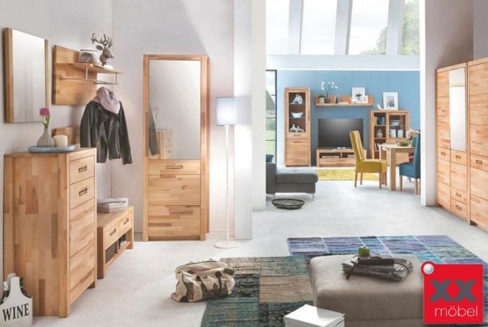 garderoben set massivholz fenja kernbuche massiv ge lt g01. Black Bedroom Furniture Sets. Home Design Ideas